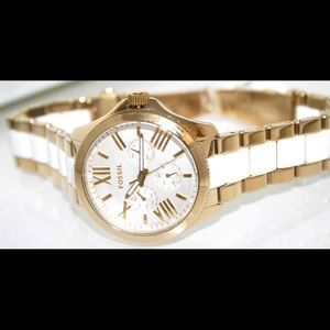 "Fossil ""Cecile"" Two-Tone Chronograph Watch"